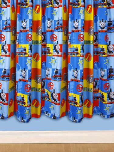 Character World 54 Inch Thomas And Friends Power Curtains Multi Color