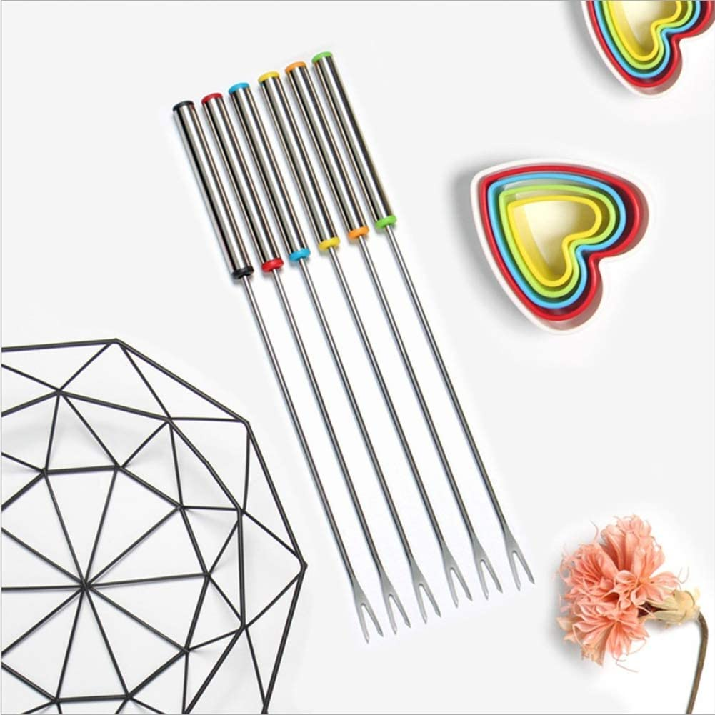 Iswell Fruit Fork 6 Pcs Dessert Fork Salad Forks Stainless Steel Perfect for Gift Afternoon Tea Kitchen Dining Bar