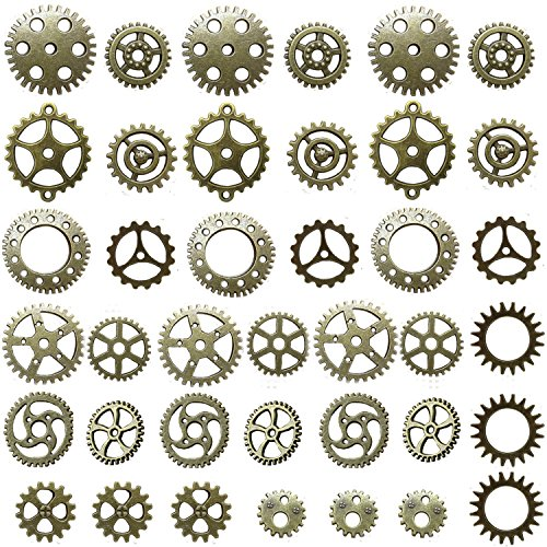 Miraclekoo Antique Bronze Steampunk Gears Crafting for sale  Delivered anywhere in USA