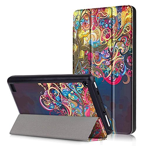 Fire HD 7 2017 Case Cover,Fire HD 7 2017 Case,Fire 7 2017 Case,Fire HD7 Cover,Ultra Slim PU Leather Smart Case for New Amazon Fire HD7 Tablet 7th Generation