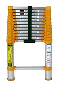 Xtend & Climb 770P telescoping-ladders, 12.5 ft, Yellow/Gray