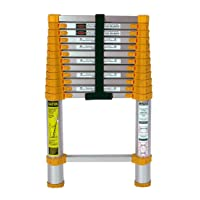 Xtend & Climb 770P telescoping-ladders, 12.5 ft, Yellow/Gray
