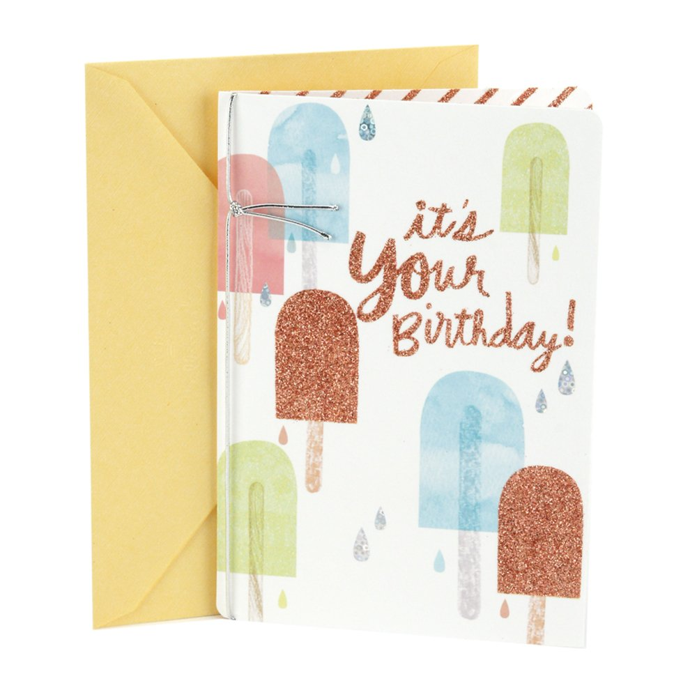 Hallmark Birthday Greeting Card for Her (Popsicles)