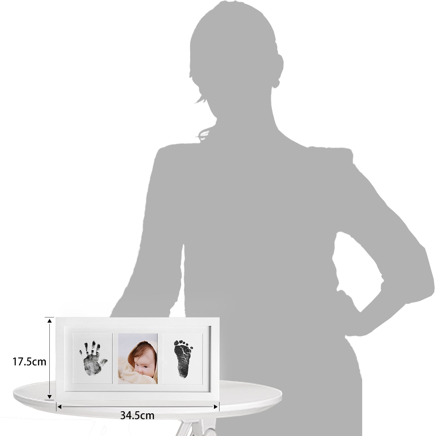 Upala Baby Handprint Footprint Photo Frame Kit Newborn Boys Girls, Babyprints Paper Clean Touch Ink Pad to Create Baby's Prints, Amazing by Upala (Image #7)