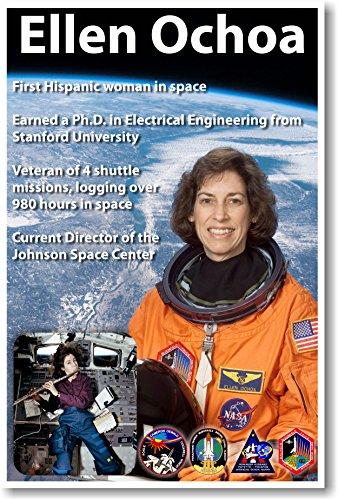 Ellen Ochoa First Hispanic Woman In Space New American Nasa Astronaut Space Poster
