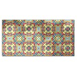 Center Of Arabia Rectangle Tablecloth: Medium Dining Room Kitchen Woven Polyester Custom Print