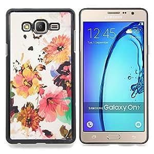 Stuss Case / Funda Carcasa protectora - Flor Wallpaper Tela Beige - Samsung Galaxy On7 O7
