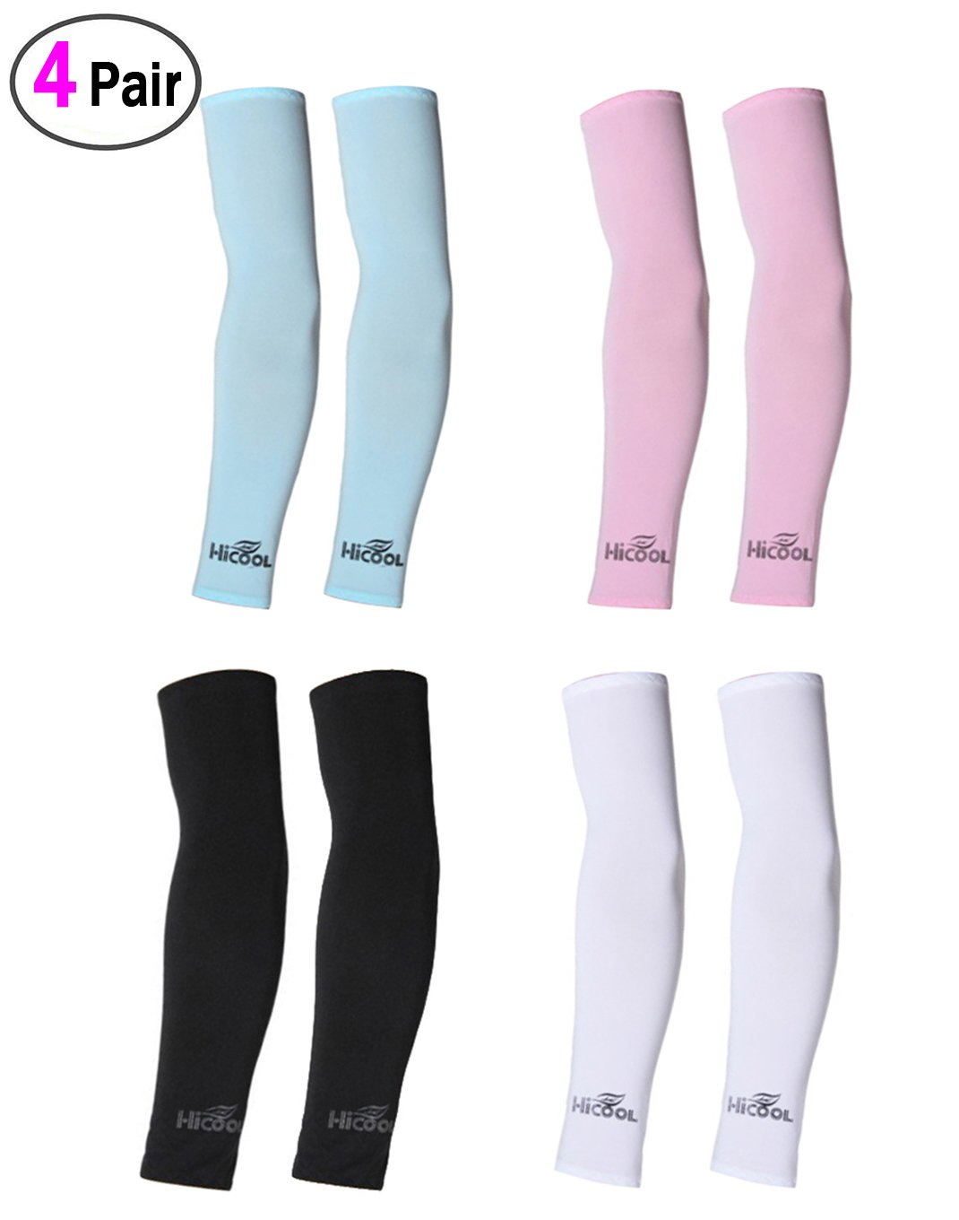 UV Arm Sleeves 2 Pairs Universal Fit Sleeves to Protect Your Skin from Sun Exposure. Pink