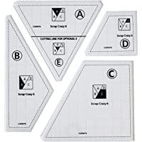4/5 peças de modelo criativo de corte de quilting, régua de máquina de costura, régua de patchwork manual de acrílico…
