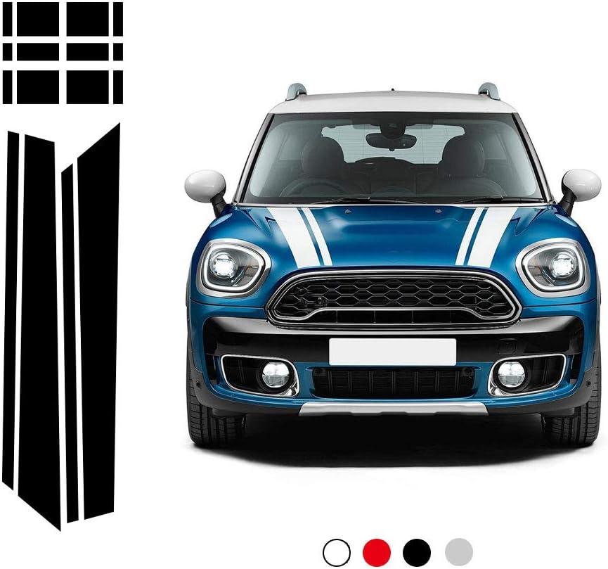 Dsycar 1 Satz Auto Styling Motorhaube Hinten Streifen Motorhaube Kofferraumabdeckung Aufkleber Auto Aufkleber Für Bmw Mini F60 Schwarz Auto