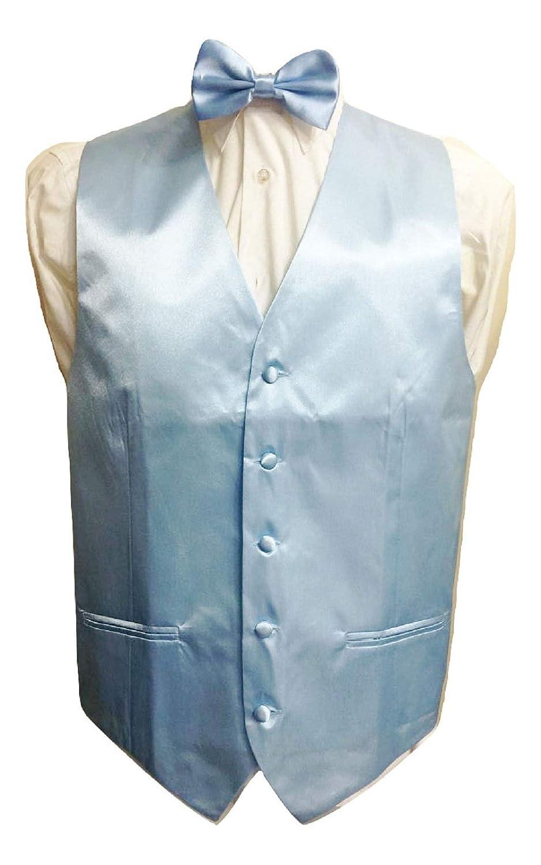 8930d9469dd8 L&L® Kid Children Boy Satin Waistcoat Vest + Matching Bowtie Set for Suit  Wedding: Amazon.co.uk: Clothing
