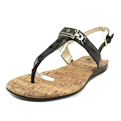 G by GUESS Womens Jemma Open Toe Casual Slingback Sandals, Black, Size 6.5