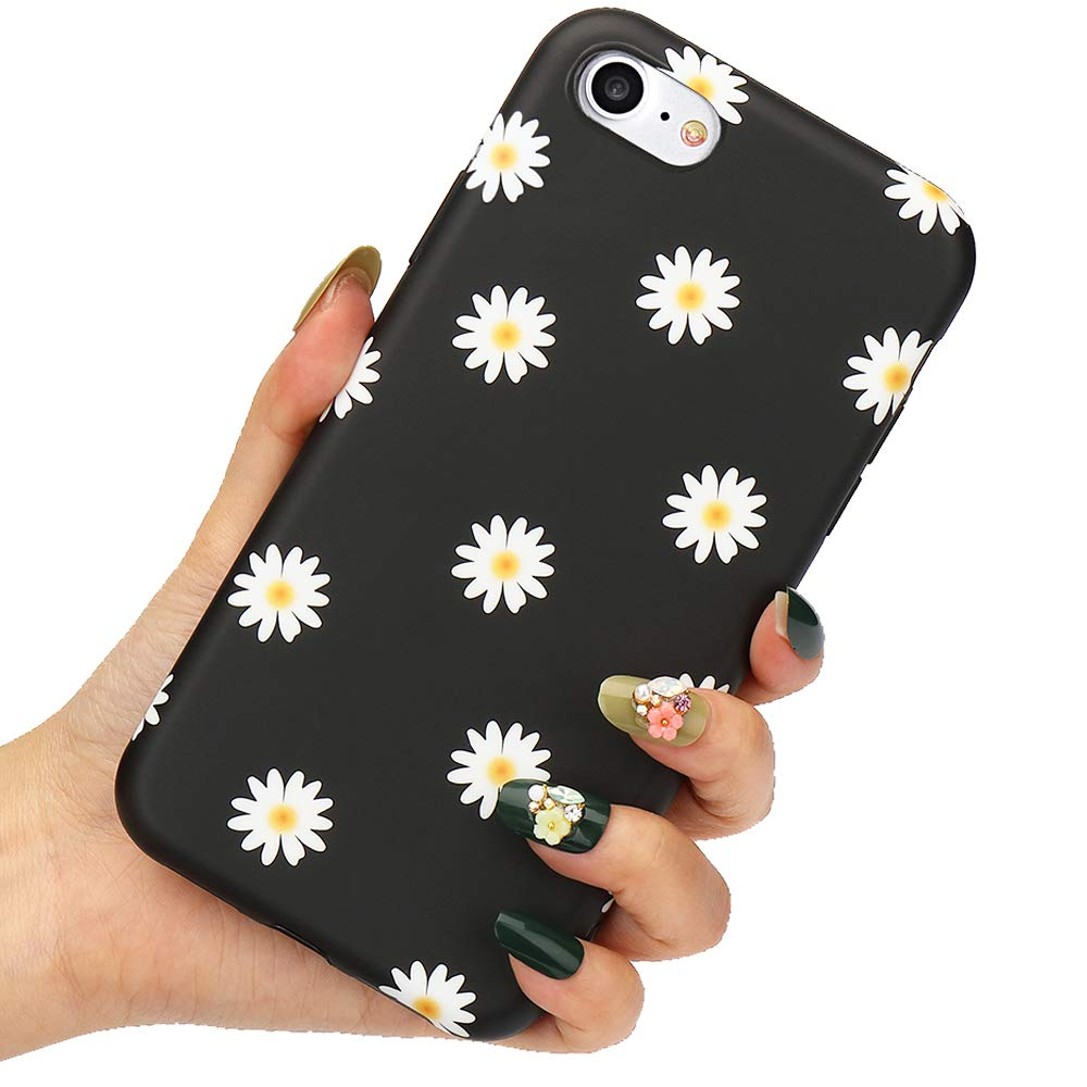 LLZ.COQUE for iPhone 6 iPhone 6S Case Cute Daisy Flowers Phone ...