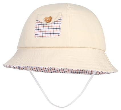 GEMVIE Chapeau Bébé Fille Garçon Anti-UV Soleil Ourdoor Bonnet Bob Été Jaune 5df34685495