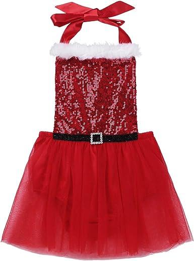 iiniim Vestido de Navidad Niña Bebé Recién Nacido Tutú Halter ...