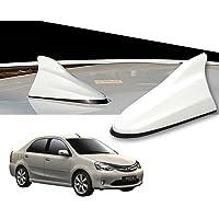 Auto Pearl White Shark Fin Signal Receiver Antenna for Toyota Etios