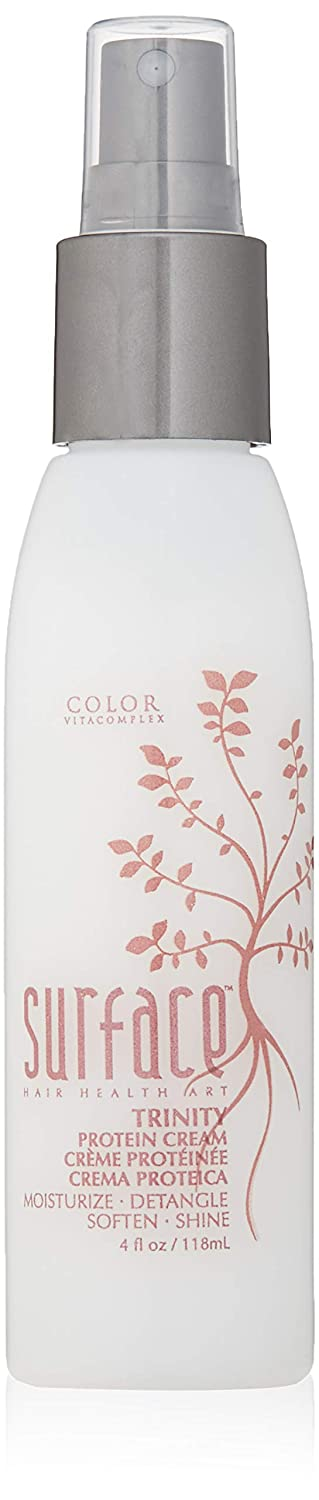 Surface Hair Trinity Protein Cream Leave-In Conditioner to Smooth and Strengthen - Natural Detangling Spray with Amaranth to Repair, Protect Color-Treated Hair - Premium Softening Treatment