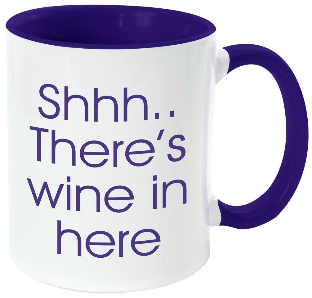 "Rikki Knight Funny Saying ""ワインは定数Proof "" – 面白い引用デザイン11オンスセラミックコーヒーマグカップ DarkBlue DIS-mugs-DBLUE-3654 B06XWXR25K DarkBlue|sshhwine sshhwine DarkBlue"