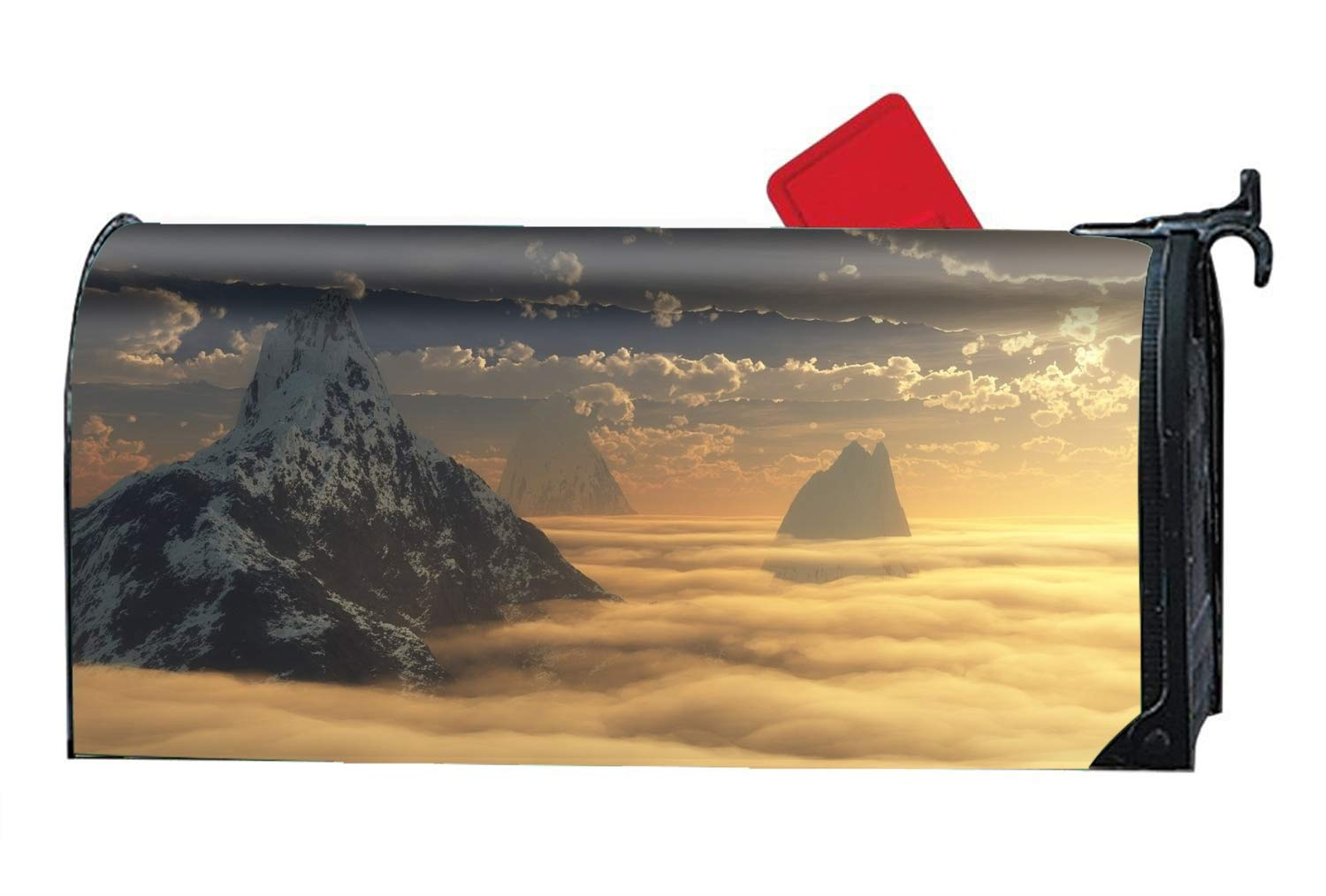 FANMIL Custom Magnetic Mailbox Cover Mail Wrap for Standard Mailboxes Cover-Artistic Landscape
