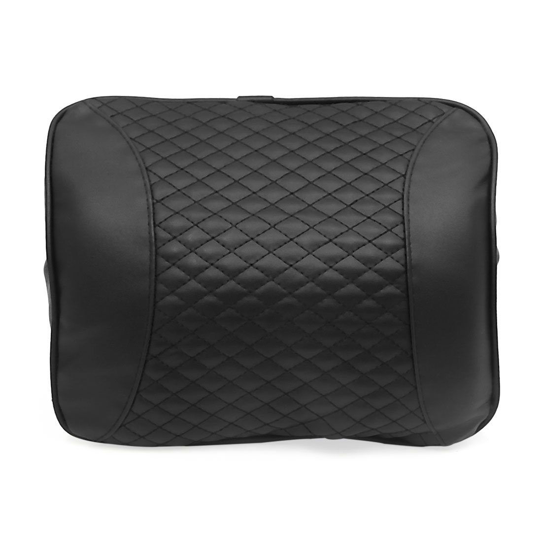 uxcell Black Universal Faux Leather Memory Cotton Car Neck Rest Support Shaped Pillow