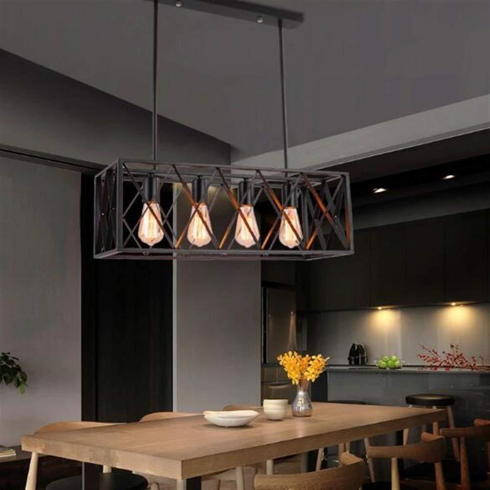 XH shop Chandelier Retro Style : Six heads Restaurantleuchterhotelcaf/é-Bekleidungsgesch/äftinternetcaf/éschwarzschmiedeeisenindustrieller Windkunst-Stangenleuchter XXHH