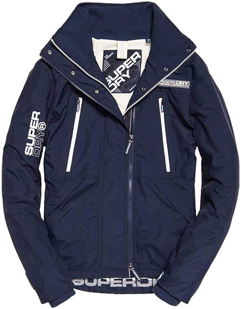 neue herren superdry polar sd-wind attacker jacke camo blue