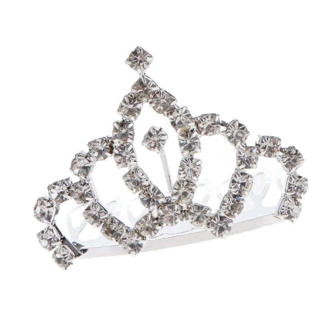 Fityle Princess Tiara Hair Comb Crown Crystal Rhinestone Girls Fancy Dress Headdress