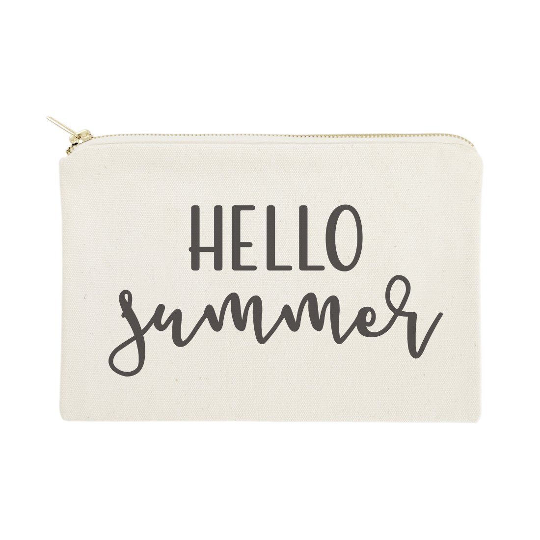 The Cotton & Canvas Co. Hello Summer Beach Cosmetic Bag and Travel Make Up Pouch