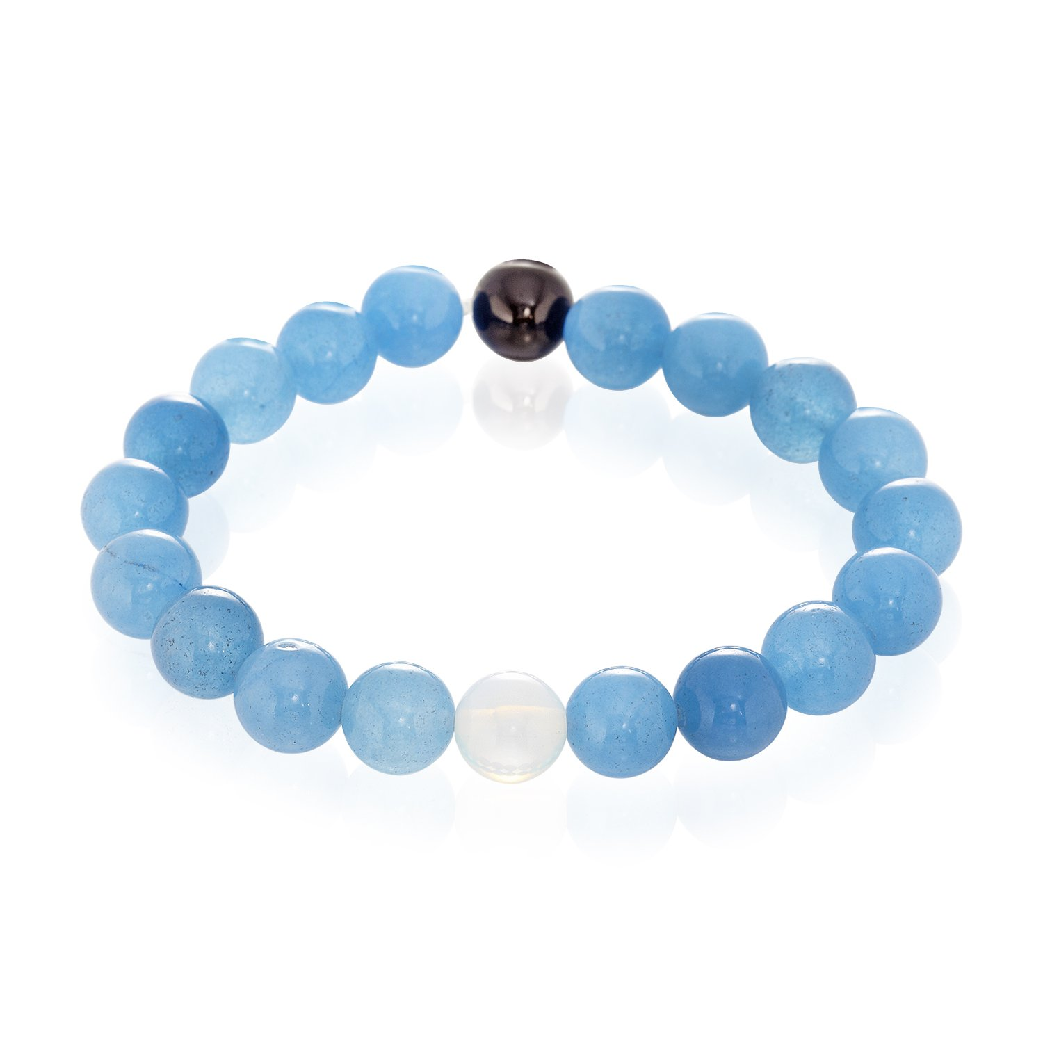 Dan's Jewelers Tibetan Buddhist Bracelet with Blue Healing Energy Crystals, Natural Semi-Precious Stones
