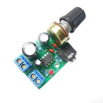 qianson lm386 audio power amplifier board dc 3v~12v 5v 0 5w~10w 8w mini  mono amp module adjustable volume: amazon ca: musical instruments, stage &  studio