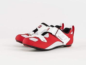 Bontrager hilo rojo/blanco – Zapatillas de triatlón 2018, 45: Amazon.es: Deportes y aire libre