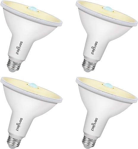 Sengled Motion Sensor Light Outdoor, Dusk to Dawn LED Outdoor Lighting, Security Flood Light PAR38 Photocell Motion Sensor, Waterproof, 3000K 1050LM, 4 Pack