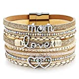 DESIMTION Mother Daughter Leather Wrap Boho Bracelet,Gifts for Mothers...