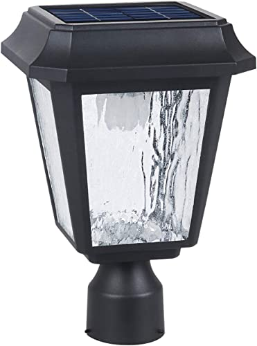 Solar Post Light Solar Powered Lamp Post Light Solar Post Cap Light Solar Patio Light Fabulously Bright 150 LUMENS Made of Aluminum die-Casting and Glass ST4618Q-A with 3 inches Post Adaptor