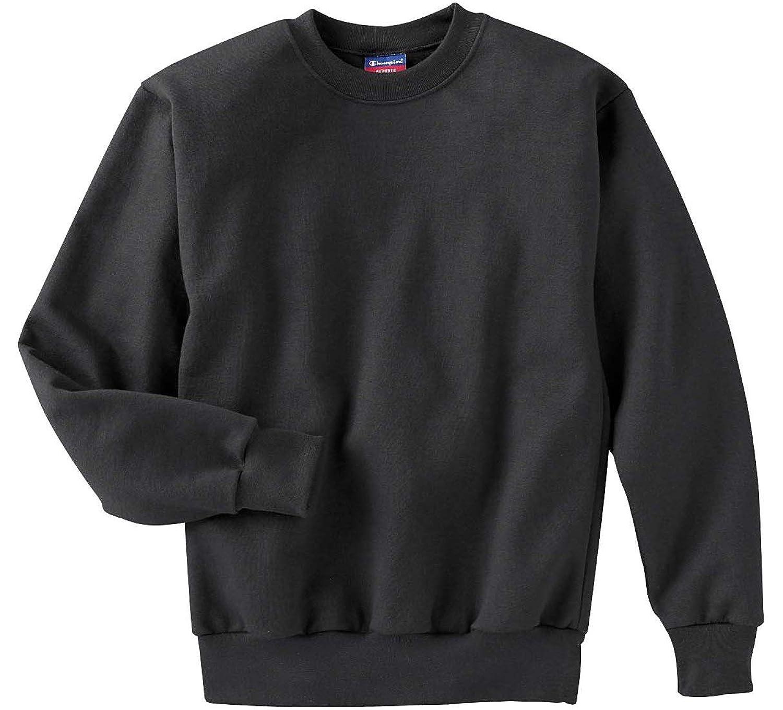 New Champion Youth Long-Sleeve Spandex Crewneck T-Shirt, black, X-Large free shipping