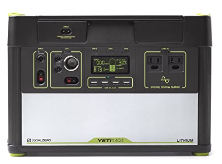 Amazon.com: Goal Zero Yeti 1400 Lithium Portable Power Station, 1425Wh Gas-Free Generator Alternative with 1500W (3000W Surge) Pure Sine Wave Inverter, ...
