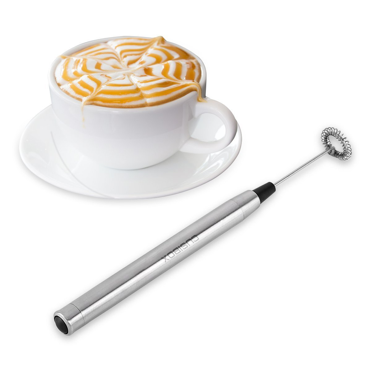 Milk Frother Handheld Electric Milk Frother Foam Maker Drink Mixer for Latte, Coffee, Cappuccino, Hot Chocolate