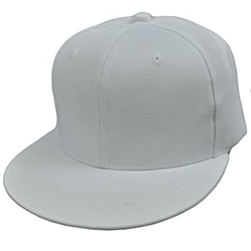 plain black and white baseball cap hat walmart fitted blank solid color bright flat bill visor construct