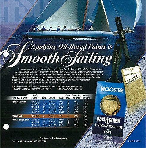 Wooster Brush Z1120-3 Yachtsman Paintbrush, 3-Inch