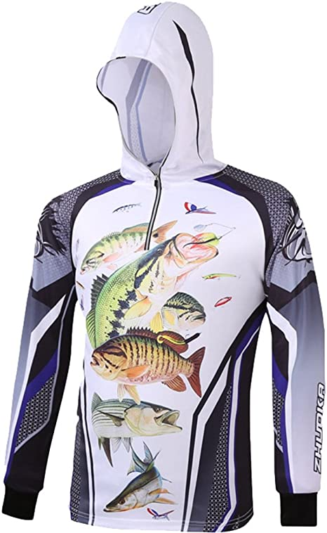 Lixada Camisa de Pesca de Manga Larga Ropa de Pesca