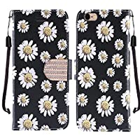 HR Wireless Cell Phone Case for Apple iPhone 6/6s - White Daisy Blossom Floral