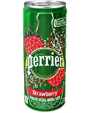 Perrier Sparkling Natural Mineral Water, Strawberry, 8.45 Ounce (Pack of 10)