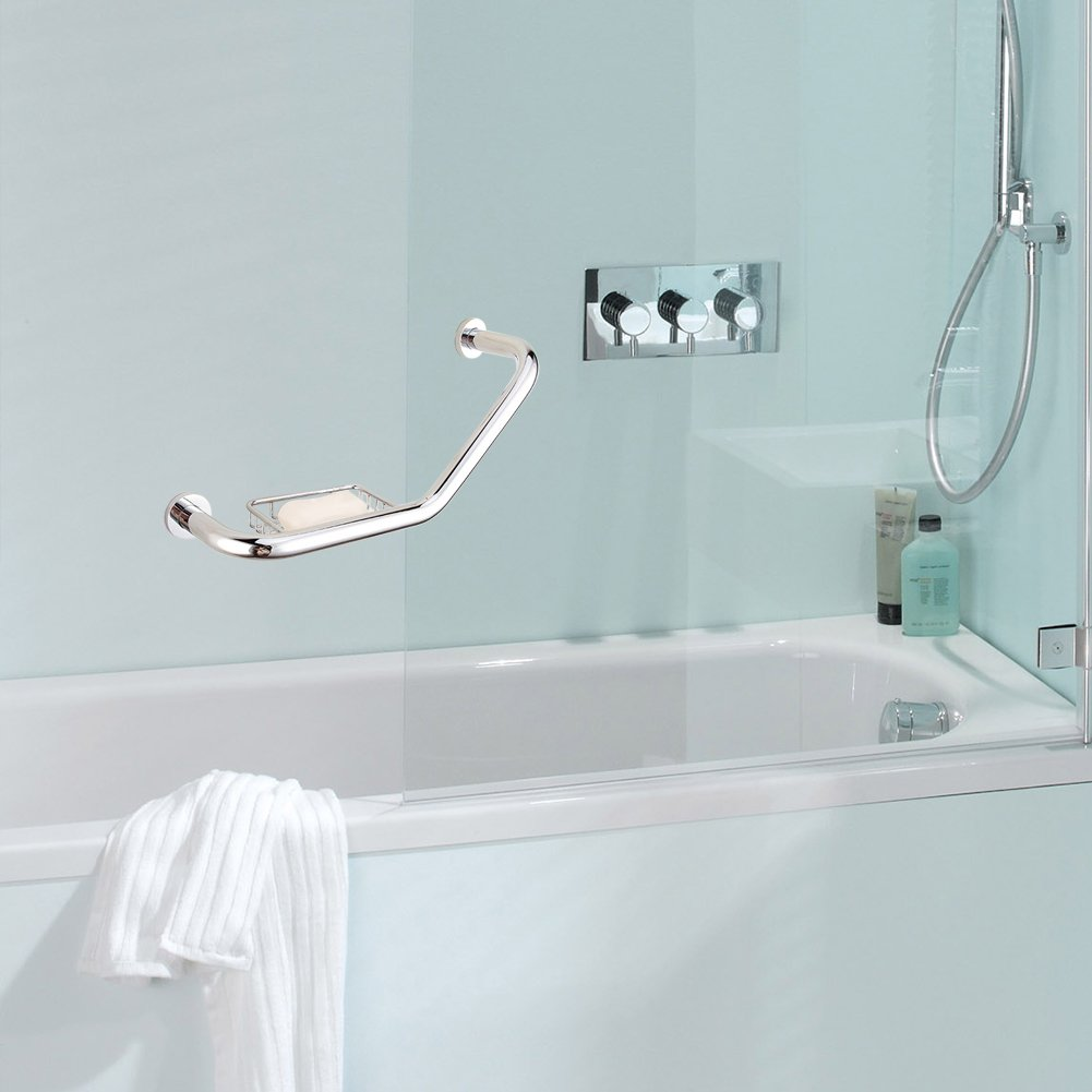 Amazon.com: Bathtub Handrails Nonslip Armrest Grab Bar With Soap ...