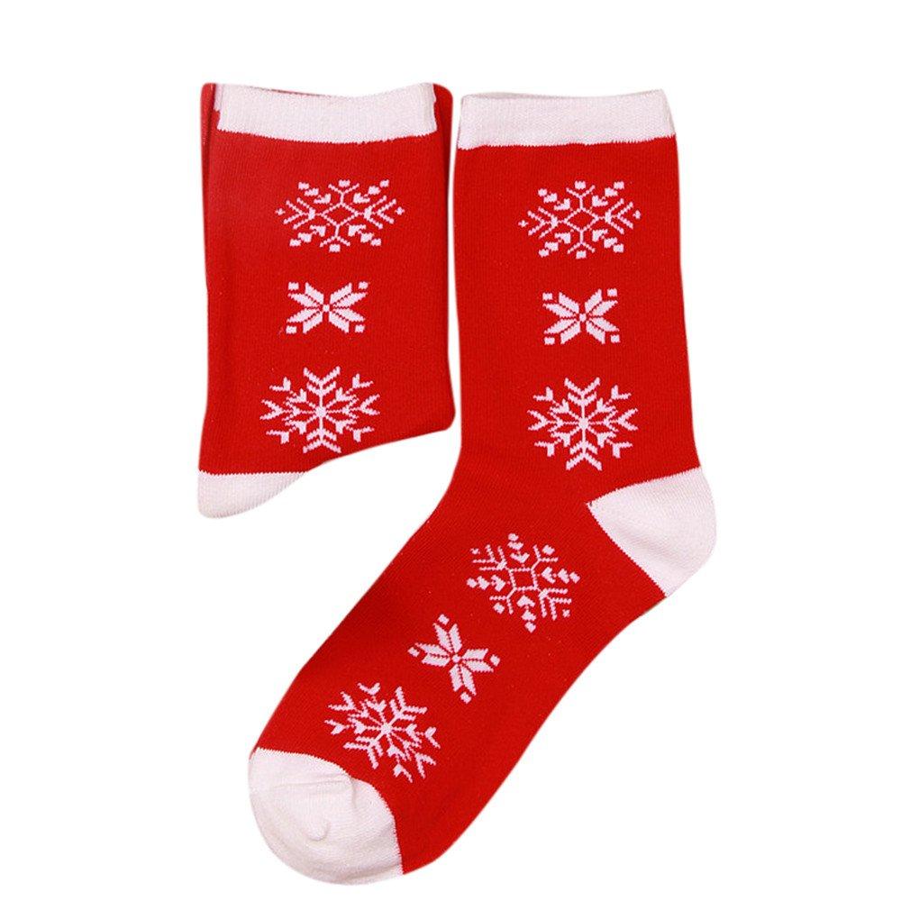 Calze Uomo, ASHOP Calzino corto in cotone per donna, Calza di Natale, Calze Donna Calze Donna (Taglia unica Bianca)