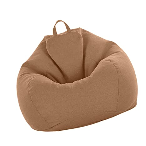 Stupendous Fityle Bean Bag Cover Large Beanbag Without Filling Children Stuffed Animal Toys Storage Beanbag Covers Only Brown Uwap Interior Chair Design Uwaporg