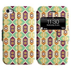 LEOCASE patrón increíble Funda Carcasa Cuero Tapa Case Para Apple iPhone 4 / 4S No.1007206