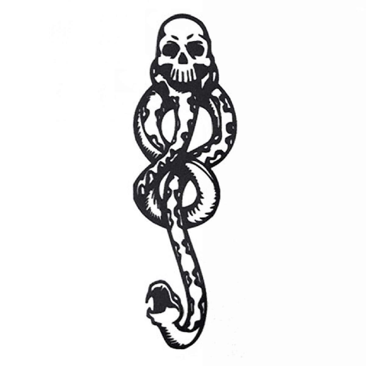 COKOHAPPY 10 Pcs Magic Death Eaters Dark Mark Mamba Snake Temporary Tattoo for Harry Potter Costume Party