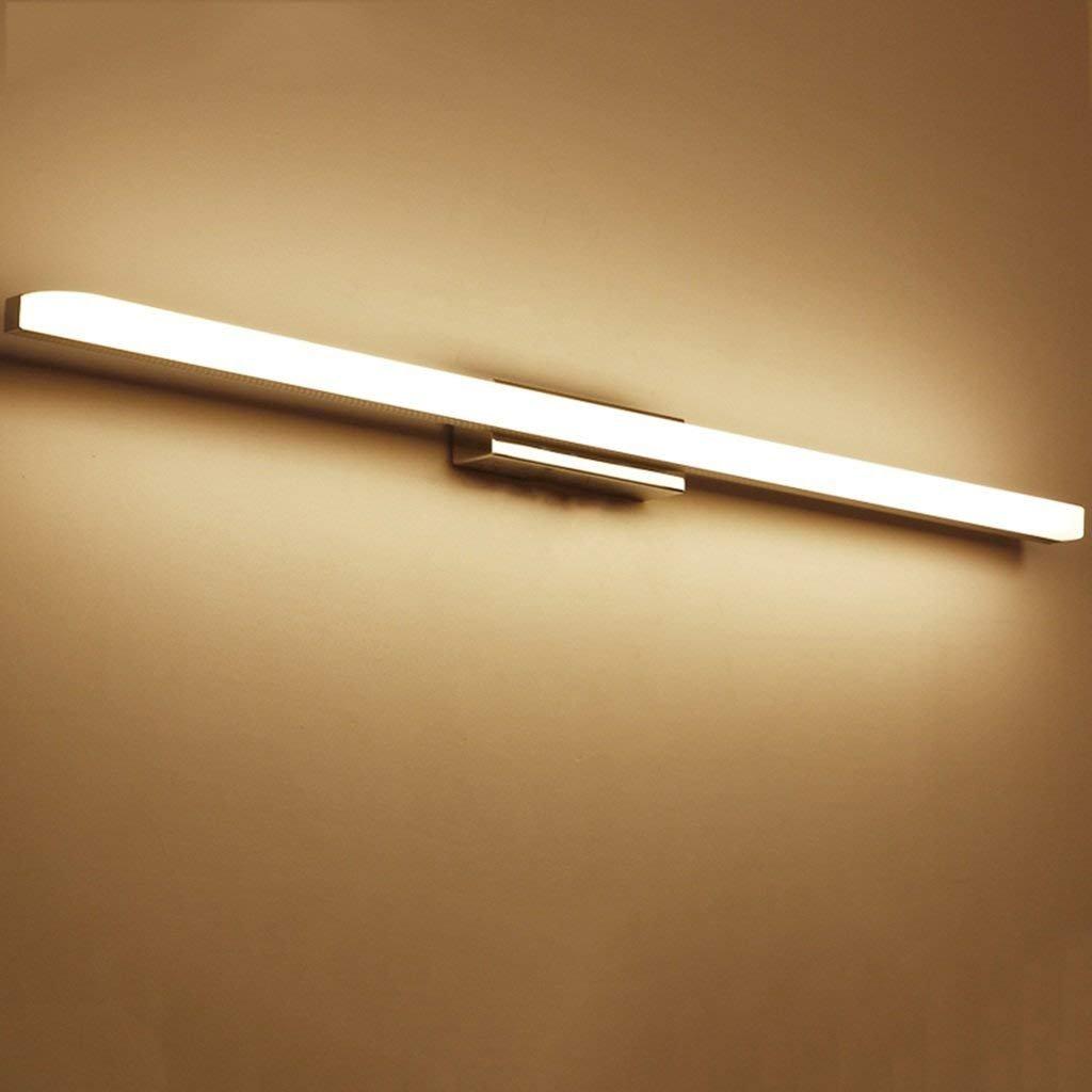 JBP Max Spiegellicht Badezimmerlicht LED Haushaltsspiegel Scheinwerfer Moderne Badezimmer Wasserdichte Nebel Spiegelschrank Licht Make-Up Wandleuchte,Warmlight,12W 60Cm