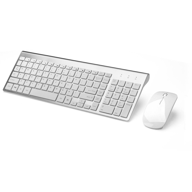 joyaccess wireless keyboards combo full size whisper quiet wireless keyboards in ebay. Black Bedroom Furniture Sets. Home Design Ideas