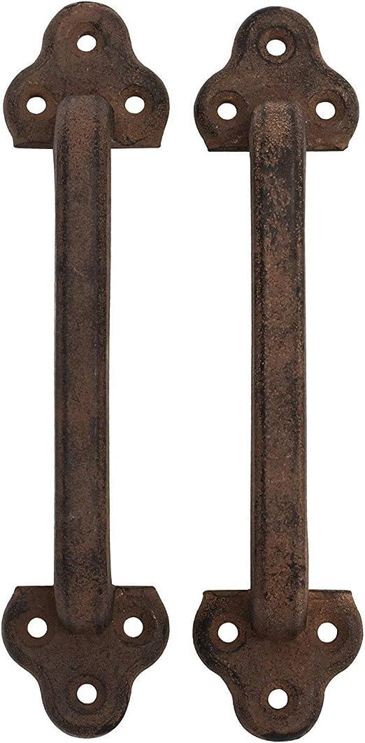 Cast Iron Gate Door Handle Pull//Utility Door Pull//Barn Door Handle Set of Two By The Metal Magician